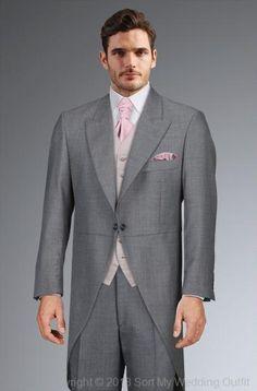 Debenhams tails with pink cravat
