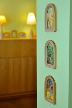 corners of home by waldorf mama, via Flickr - most lovely wooden picture frames ♥