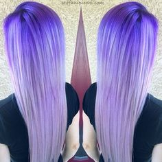 Violet to silver ombre effect!