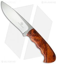 """Arno Bernard Knives Hippo Knife Maple Burl (4.75"""" Satin) 1308"""