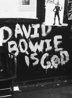 If you're going to believe in God, I guess it might as well be Bowie!