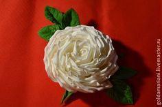 брошь цветок из фоамирана - белый,брошь,брошь цветок,брошь ручной работы