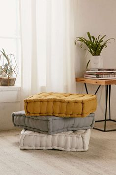 amya velvet pillow pouf | pillows and urban outfitters