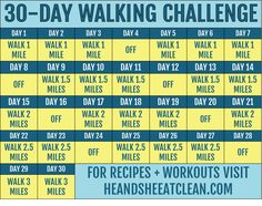 30-Day Walking Fitness Challenge | He and She Eat Clean