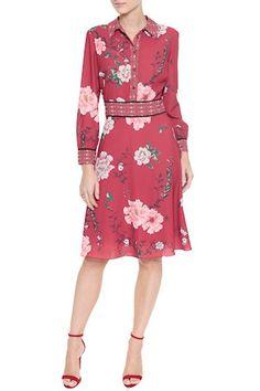Vestido Crepe Floral Pequim