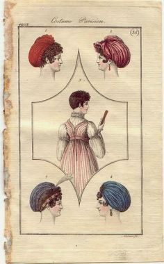 Regency Headwear note the short hair!