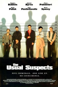 film, kevin spacey, usual suspect, cinema, poster