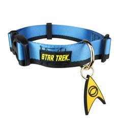 True Star Trek fans have another perfect option for their faithful friend. The Star Trek Uniform Collars show that like you, your faithful canine companion are devoted fans. The uniform collar feature