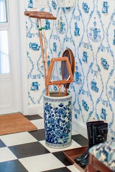 The Pink Pagoda: Blue and White Monday chinoiserie, badminton, floor, blue, pink pagoda, tenni, laundry rooms, bathroom ideas, white bathrooms