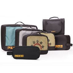 Lyceem Packing Organizers Value for Travel- 3 Packing Cubes   1 Toiletry Kit Storage Bags 1 free Multipurpose bag- Lifetime Warranty! -- To view further, visit now : Travel accessories