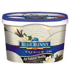 blue bunny all natural vanilla bean ice cream...the only one I could find that has all natural ingredients (cream, milk, eggs, sugar, vanilla)