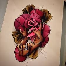 neo traditional jaw bone tattoo - Google Search