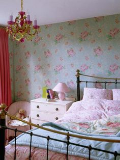 b51c154e6 ideas for a girlie guest room - a funky chandelier #greyandpinkbedroomideas