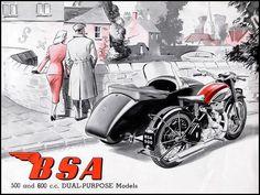 1952 BSA Sidecar outfit | Flickr: Intercambio de fotos