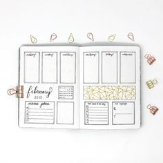 Bullet journal weekly layout, overlapping daily headers, weekly meal plan log, bullet journal word of the day, kid highlights log, linear design, geometric pattern drawing. | @lifearrangements