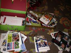 Christmas Organizing Tip-Blog with great way to save Christmas Cards
