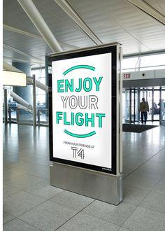 La nouvelle identité visuelle du Terminal 4 de l'aéroport de New York réalisée…