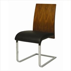 Pastel Furniture Federick Side Chair in Walnut & Black - QLFC1107997969 - Lowest price online on all Pastel Furniture Federick Side Chair in Walnut & Black - QLFC1107997969