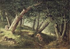 """William Holbrook Beard, """"In the Forest"""" (1856)"""