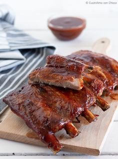 Pork Rib Recipes, Pork Tenderloin Recipes, Salsa Barbecue, Baked Pork Loin, Good Food, Yummy Food, Fish And Meat, Daily Meals, Italian Recipes