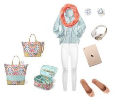 """""""Airport Jet-Set"""" by meredith-josephine on Polyvore featuring Aéropostale, Stella & Dot, 7 For All Mankind, Beats by Dr. Dre and Tory Burch"""