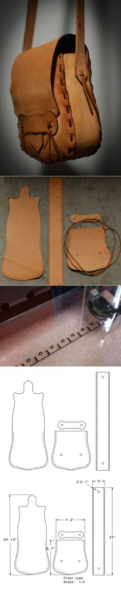How to sew a bag from genuine leather Leather Art, Leather Pouch, Leather Design, Leather Tooling, Leather Purses, Leather Handbags, Sewing Leather, Crea Cuir, Diy Sac