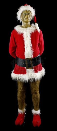 RICK BAKER AUCTION - Lot 268 - Grinch (Jim Carrey) Santa Costume Display   Prop Store - Ultimate Movie Collectables