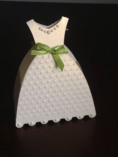 Paper Crafting Chic: Bridal Dress Wedding Shower Favor Box