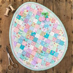 Excited to share this item from my shop: Petite Patchwork Egg Mug Rug - PDF Pattern Egg Mug, Mug Rug Patterns, Block Patterns, Easter Season, Miniature Quilts, Egg Designs, Quilted Table Runners, Fabric Squares, Mini Quilts