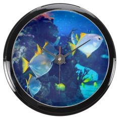 Underwater 13 Aqua Clock & Numeral Options