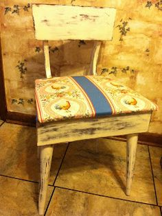 Re-furbed sewing chair.