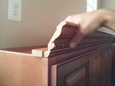 What Size Nails For Kitchen Crown Molding? - Carpentry - DIY Chatroom Home Improvement Forum Kitchen Cabinet Crown Molding, Diy Crown Molding, Crown Moldings, Moulding, Redo Kitchen Cabinets, Diy Cabinets, Kitchen Redo, Home Improvement Projects, Home Projects