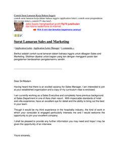 Contoh Surat Lamaran Kerja English 3