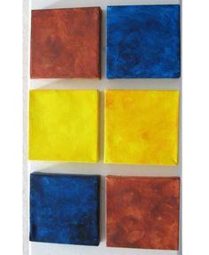 Canvas  Original Painting  Squares  Multi Coloured by CherubimArts