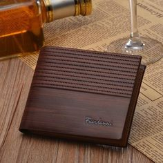 The Leather Wallet is made with 100% genuine Italian leather.