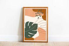 Abstract Pattern, Pattern Art, Modern Wall Art, Contemporary Art, Easy Wall Art, Form Poster, Shape Posters, Orange Art, Printable Wall Art