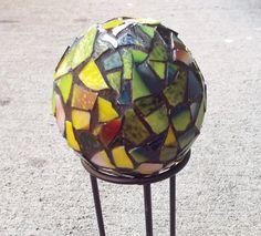Garden Decor Globe Mosaic Orb Mosaic Ball by PiecesofhomeMosaics