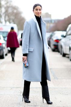 streetstyle blue coat
