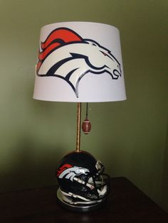 Nfl denver broncos fabric lamp shade 10 by littlebobbycreations denver broncos football lamp by thatlampguygraz on etsy httpsetsy mozeypictures Images