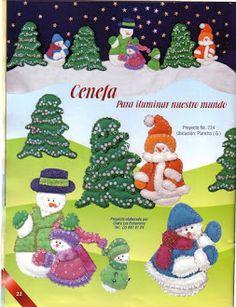 Foto: Christmas Themes, Christmas Holidays, Christmas Ornaments, Holiday Decor, Snowman, Felt, Album, Creando Ideas, Queen