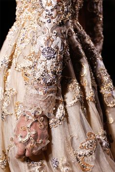 Details: Valentino Haute Couture is flawless.