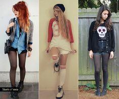 looks: shorts com meia