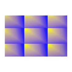 Yellow Beams on Blue Canvas Print
