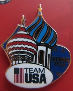 2014 SOCHI OLYMPICS USA TEAM Pin ST. BASIL TOWER Logo (Sold Out) New Dated #USA