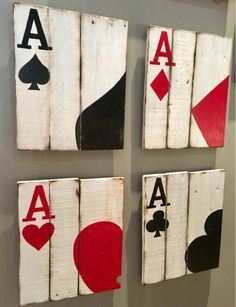 Playing Cards Ace Cards Art Poker Room Decor Man Cave Decor - Each of us has . - Playing Cards Ace Cards Art Poker Room Decor Man Cave Decor – Each of us has different needs and - Man Cave Diy, Man Cave Home Bar, Rustic Man Cave, Man Cave Crafts, Modern Man Cave, Man Cave Wall Art, Man Cave Basement, Man Cave Garage, Game Room Basement