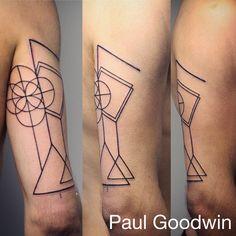 Simple Geometric shapes tattoo
