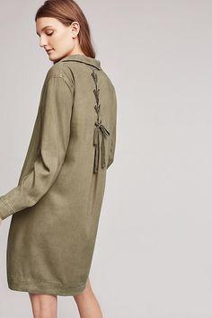 Farryn Laced-Back Shirtdress | Anthropologie