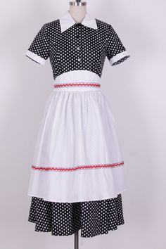 i love lucy dress polka dot with apron