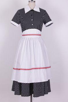i love lucy dress polka dot with apron
