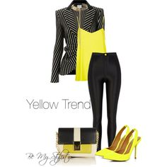 """""""Yellow Trend"""" by bemystylist on Polyvore"""